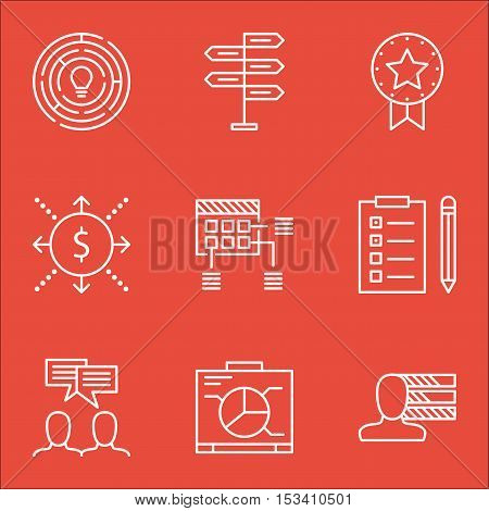 Set Of Project Management Icons On Money, Innovation And Opportunity Topics. Editable Vector Illustr