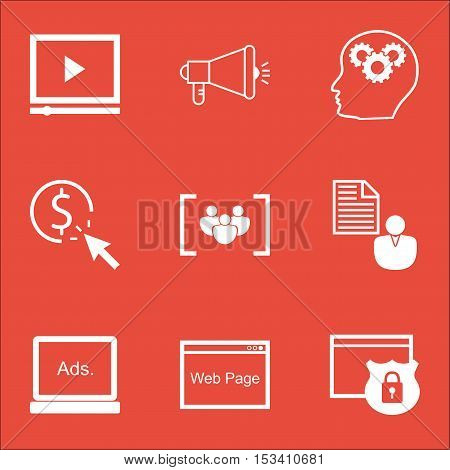 Set Of Marketing Icons On Digital Media, Report And Ppc Topics. Editable Vector Illustration. Includ