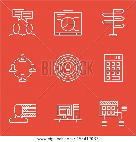 Set Of Project Management Icons On Opportunity, Board And Collaboration Topics. Editable Vector Illu