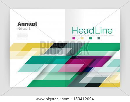 Motion concept. Business annual report cover templates. Brochure or flyer layout
