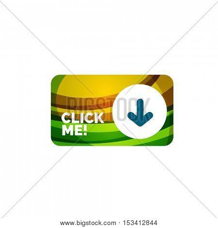 Vector abstract rectangle button template