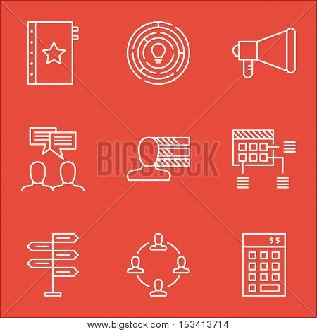 Set Of Project Management Icons On Collaboration, Investment And Opportunity Topics. Editable Vector