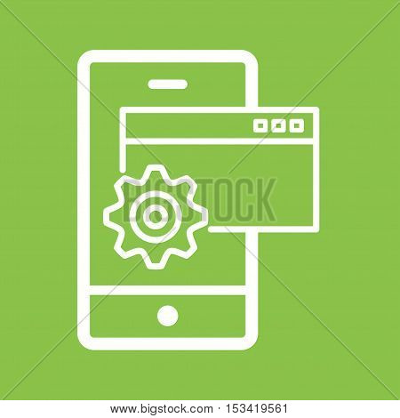 Device, settings, installation icon vector image. Can also be used for software development. Suitable for mobile apps, web apps and print media.