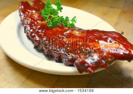 Delicious Pork Ribs Smothered In Bbq Sauce