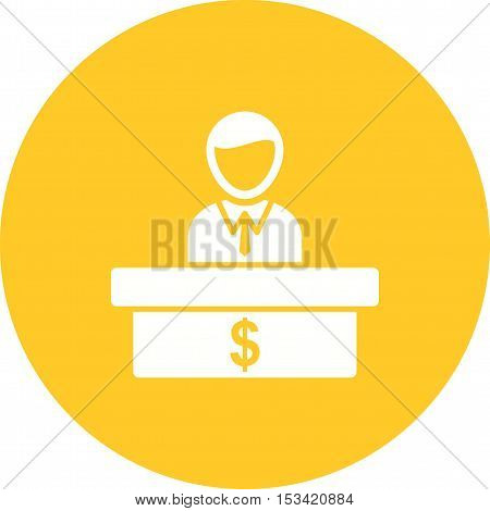 Cashier, bank, cash icon vector image. Can also be used for currency. Suitable for web apps, mobile apps and print media.