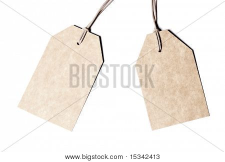 Leere Tags, isolated on white