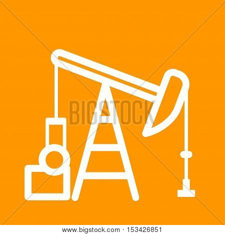 Pumpjack, oil, field icon vector image. Can also be used for Industrial Process. Suitable for mobile apps, web apps and print media.