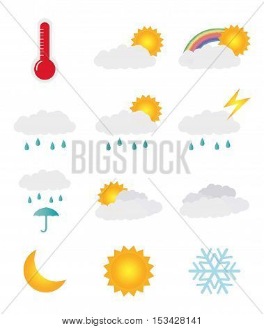a weather icon set on a white background