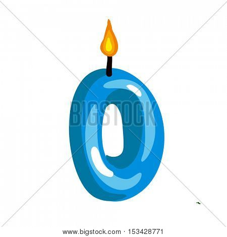 Vector illustration of birthday candle on a white background