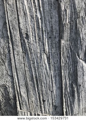 Grooved cement wall design at flight 93 memorial