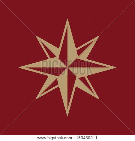 The star icon. Star symbol. Flat Vector illustration