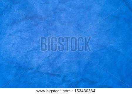Natural blue leather texture. Abstract background empty template.