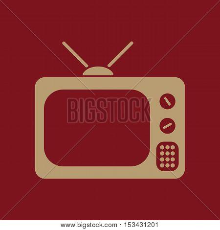 The tv icon. Television symbol. Flat Vector illustration