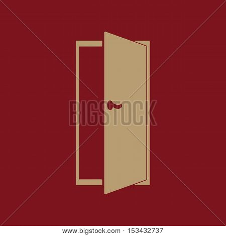 The door icon. Exit and login  symbol. Flat Vector illustration