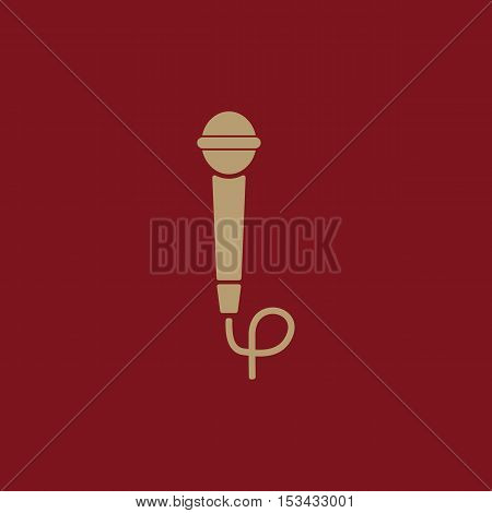 The microphone icon. Sound symbol. Flat Vector illustration