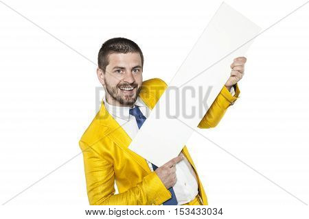 Advertising Lever Of Trade, The Businessman In A Golden Suit
