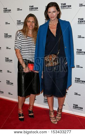 NEW YORK-APR 2: Courtney Crangi (L) and Creative Director and President for J.Crew Jenna Lyons attend the 2015 Center Dinner at Cipriani Wall Street on April 2, 2015 in New York City.