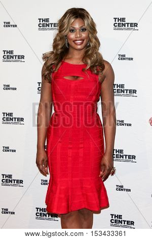 NEW YORK-APR 2: Actress Laverne Cox attends attends the 2015 Center Dinner at Cipriani Wall Street on April 2, 2015 in New York City,