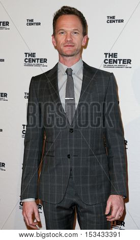NEW YORK-APR 2: Actor Neil Patrick Harris attends attends the 2015 Center Dinner at Cipriani Wall Street on April 2, 2015 in New York City,