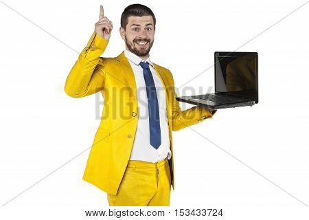 Businessman With An Idea For An Online Store
