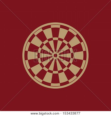 The darts icon. Target and Game symbol. Flat Vector illustration