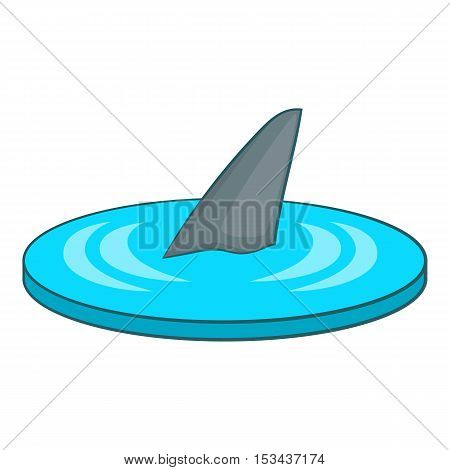 Shark fin icon. Cartoon illustration of shark fin vector icon for web design