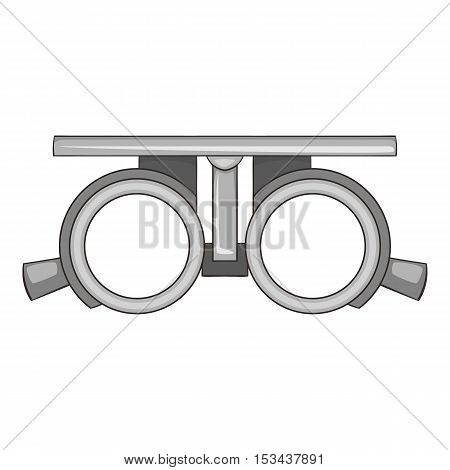 Frame for checking vision icon. Cartoon illustration of frame for cheking vision vector icon for web design