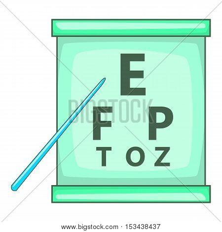 Eye test icon. Cartoon illustration of eye test vector icon for web design
