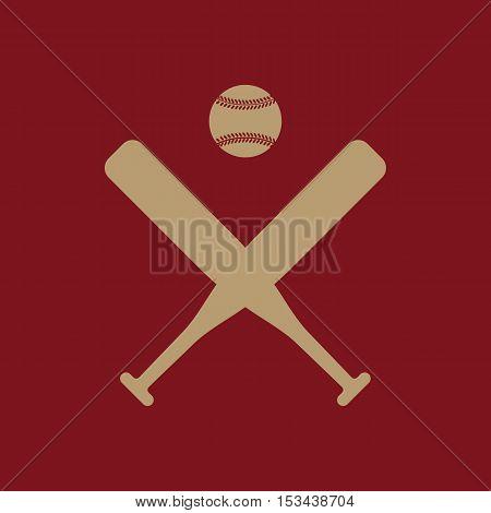 The baseball icon. Sport symbol. Flat Vector illustration