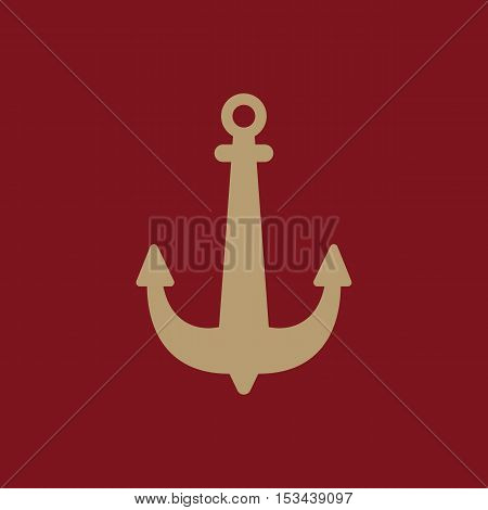 The anchor icon. Ocean symbol. Flat Vector illustration