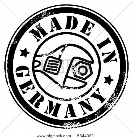 Made in Germany grunge style stamp, vector illustration