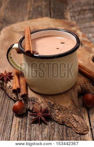 milk and cocoa with spice
