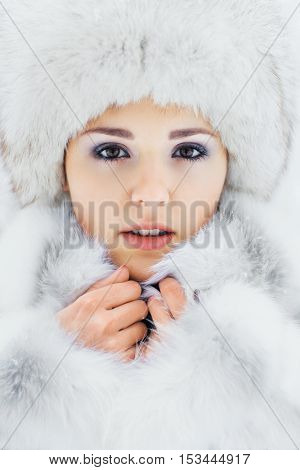 Portrait of young beautiful girl in native scandinavian clothes