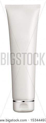 Plain White Plastic Cosmetics Tube