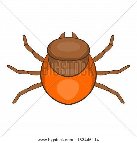 Tick icon. Cartoon illustration of tick vector icon for web