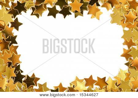 Golden stars frame