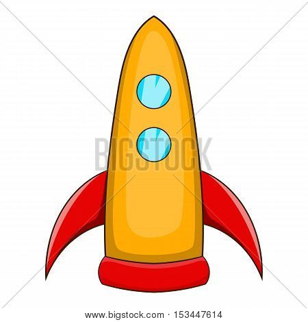 Rocket takes off icon. Cartoon illustration of rocket takes off vector icon for web