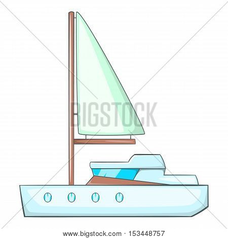 Sea yacht icon. Cartoon illustration of sea yacht vector icon for web