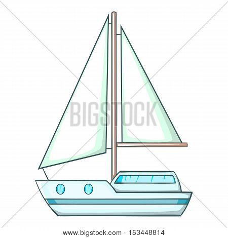 Sailing ship icon. Cartoon illustration of sailing ship vector icon for web