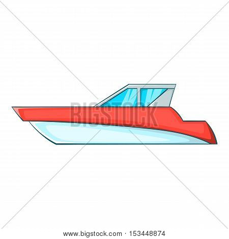 Great powerboat icon. Cartoon illustration of great powerboat vector icon for web