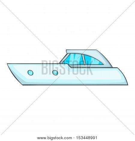 Sports powerboat icon. Cartoon illustration of sports powerboat vector icon for web