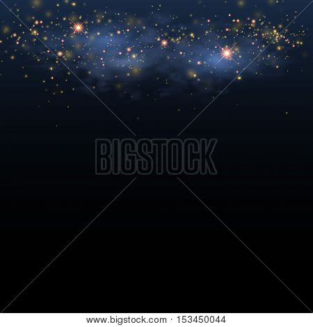 Star shine sky. Magical glittering space. Christmas Eve background
