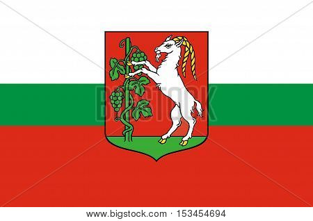 Flag of Lublin city in Lublin Voivodeship in southeastern Poland.
