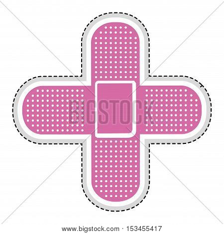 two bandages icon image vector illustration design