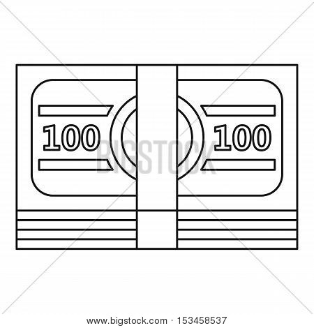 Bundle of money icon. Outline illustration of bundle of money vector icon for web