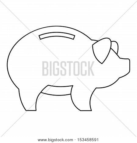 Piggy icon. Outline illustration of piggy vector icon for web