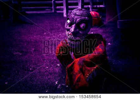 the zombie at night in halloween day