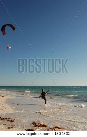 Lone Kite Surfer