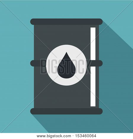 Barrel of oil icon. Flat illustration of barrel of oil vector icon for web