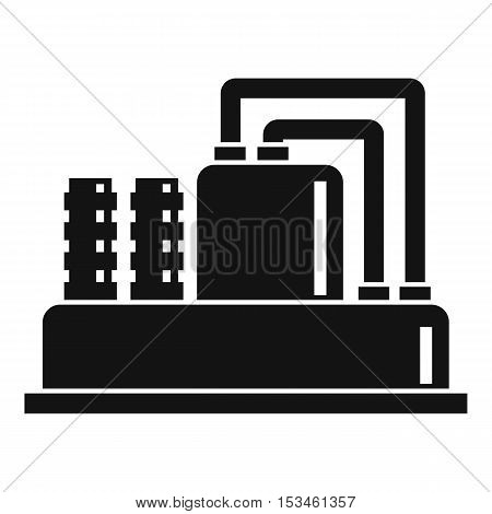 Equipment for production oil icon. Simple illustration of equipment for production oil vector icon for web